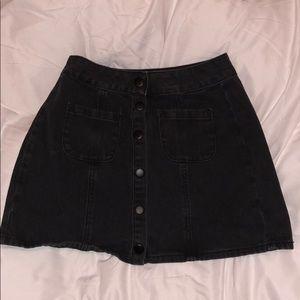 Black Denim Brandy Melville Skirt